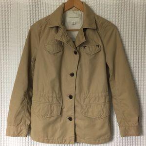 Banana Republic tan jacket with drawstrings